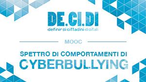 Corso di formazione online sul tema del cyberbullismo promosso da DE.CI.DI.